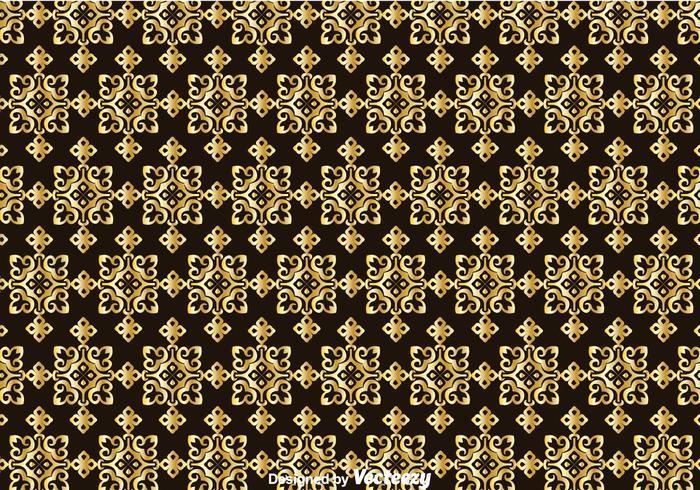 Gold Talavera Seamless Pattern