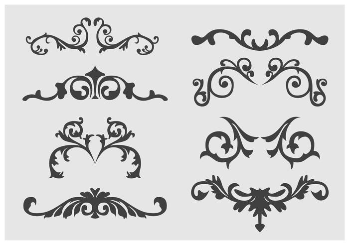 Western Flourish Ornament vector