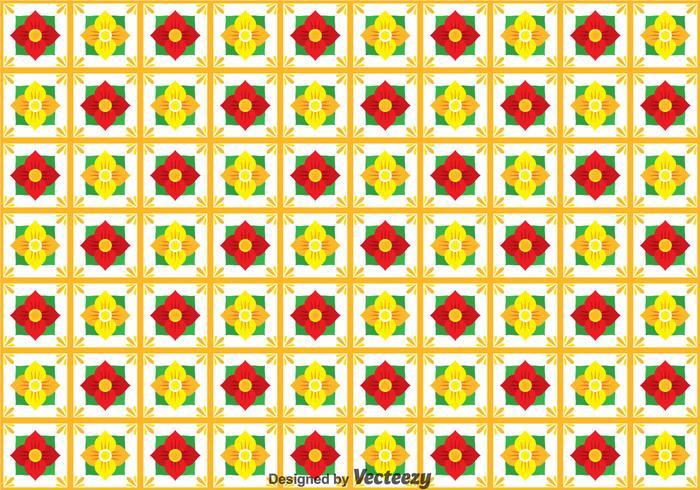 Flower Talavera Seamless Pattern