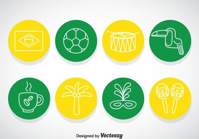 Brasil Circle Icons