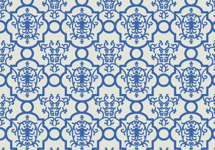 Blue Floral Pattern Background