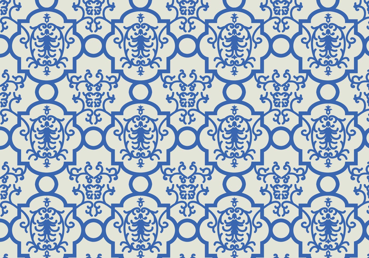 Blue Floral Pattern Background - Download Free Vectors ...