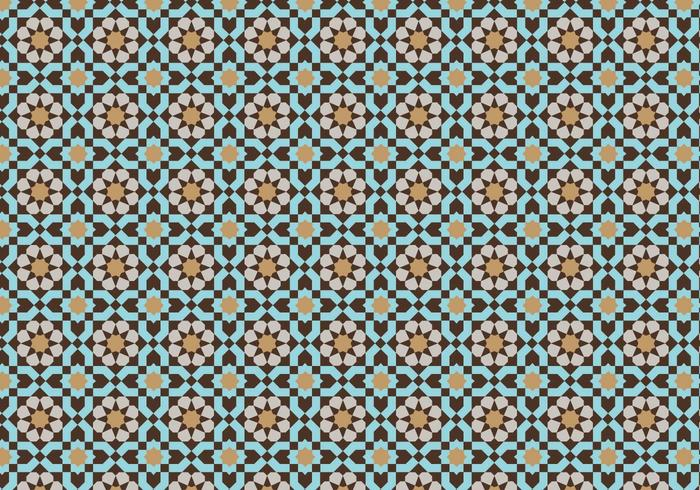 Moroccan Mosaic Pattern Bacground Download Free Vector
