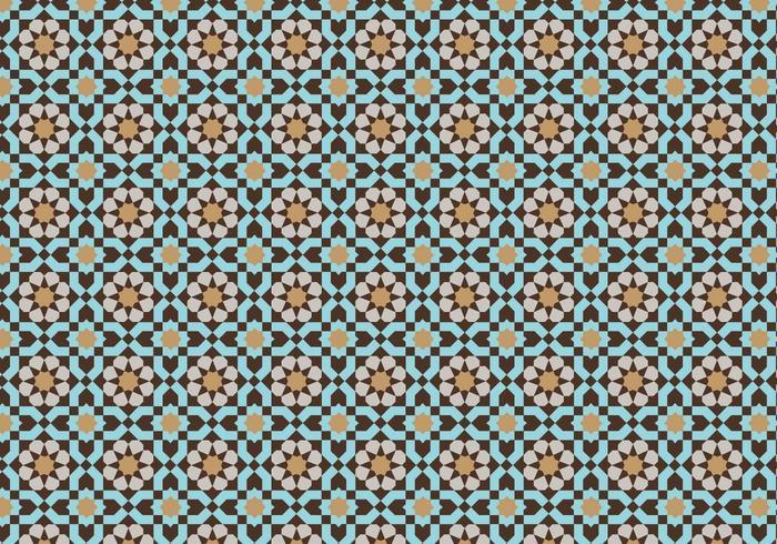 Patrón mosaico marroquí Bacground vector