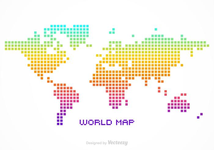 Free vector pixel world map download free vector art stock free vector pixel world map sciox Image collections