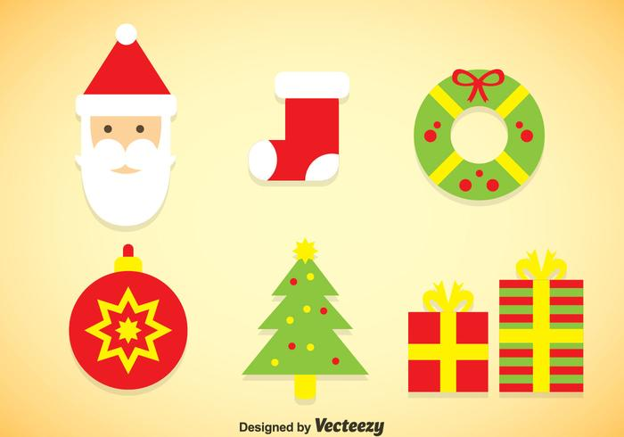 Christmas Colors Icons Vector