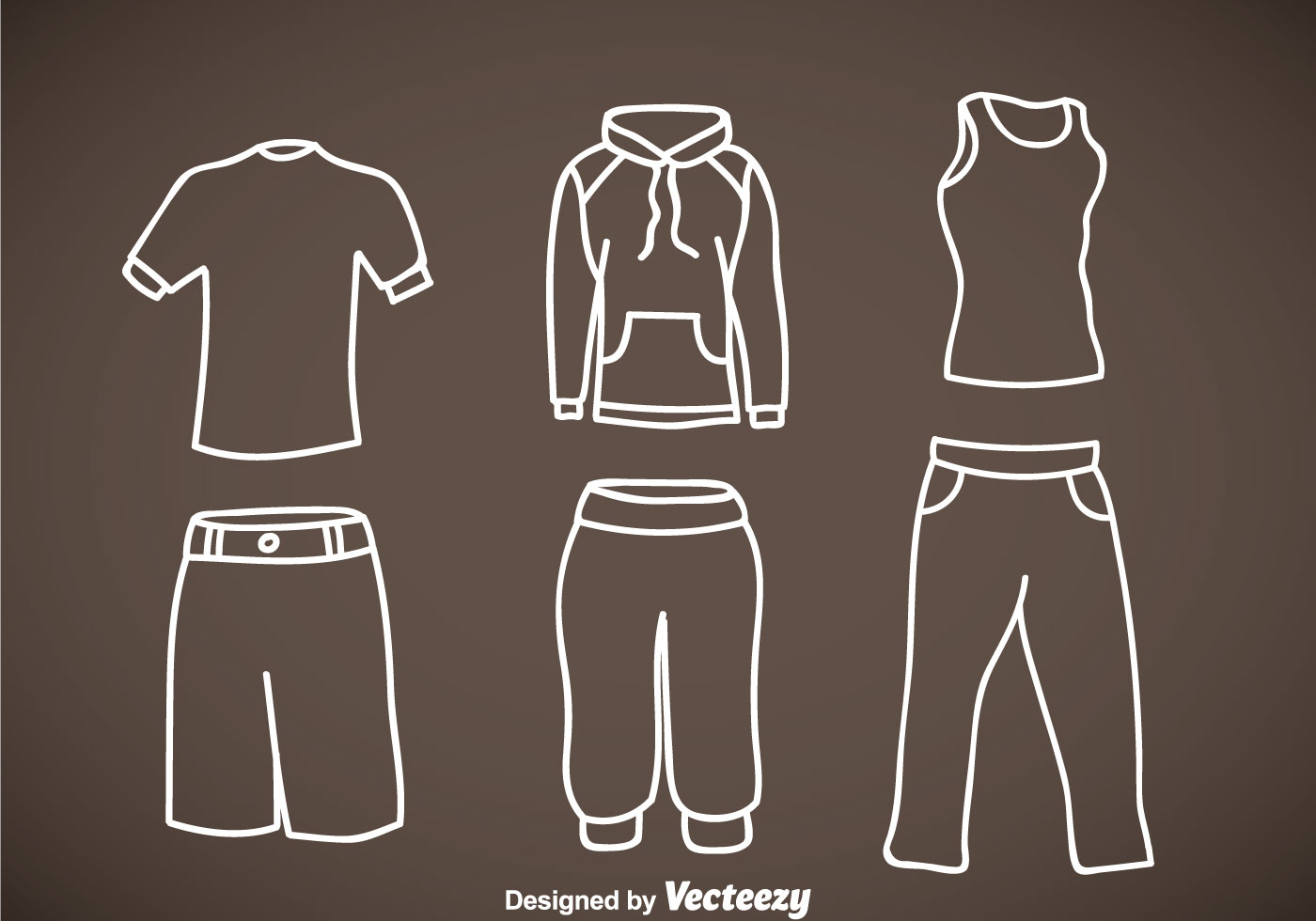 tracksuit hand drawn vector icons