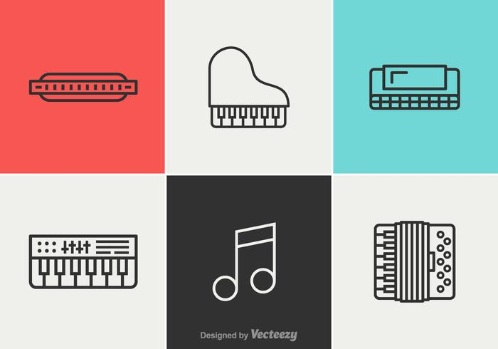 Free Music Vector Line Icons