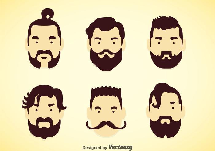 Hombre peinados conjuntos de vectores