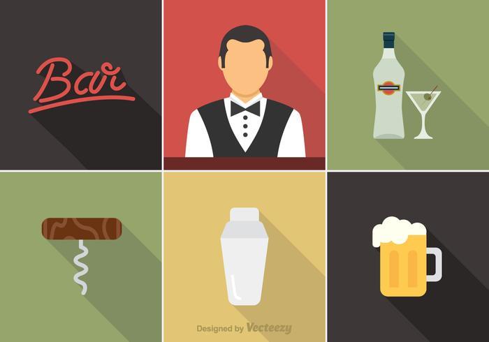 Barman libre iconos del vector