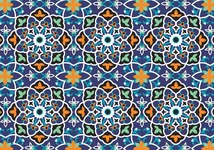 Fundo de padrão de decoração mosaica