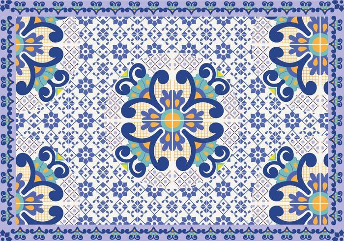 Talavera Pattern Vector