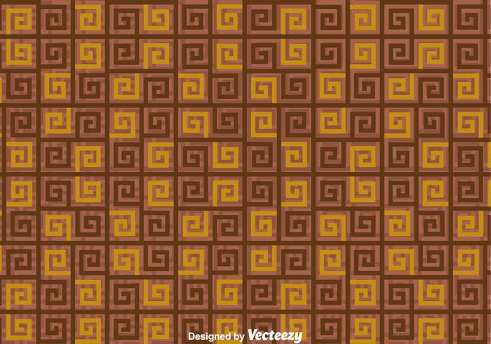 Brown Greek Key pattern