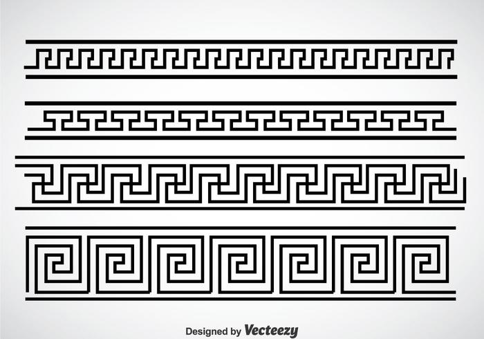Greek Key Black Border Vector Sets - Download Free Vector ...