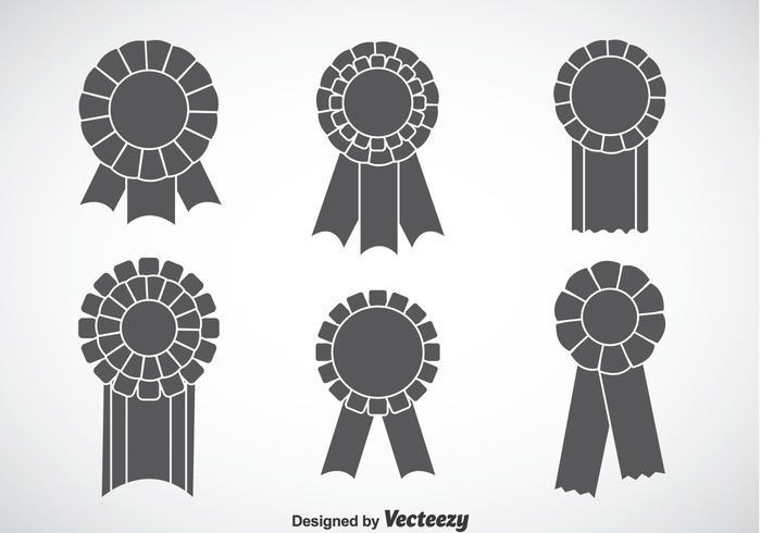 Blank Gray Cockade Vector Sets
