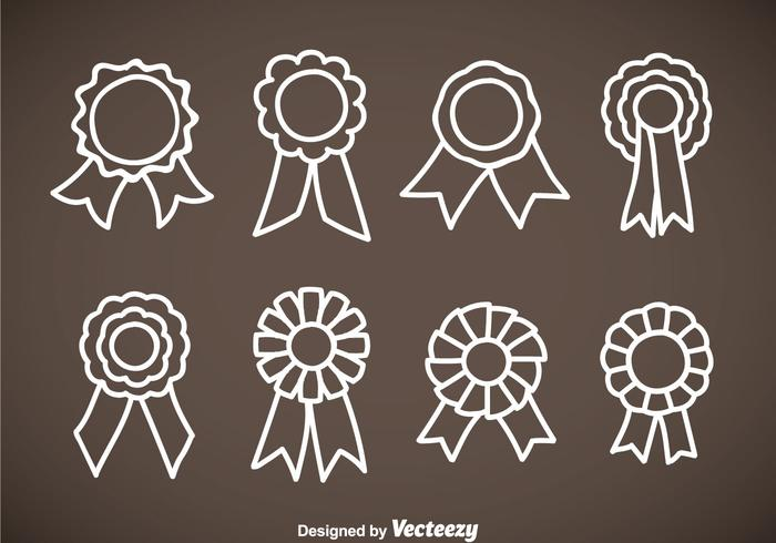 Cockade Hand Drawn Icons Vector Sets