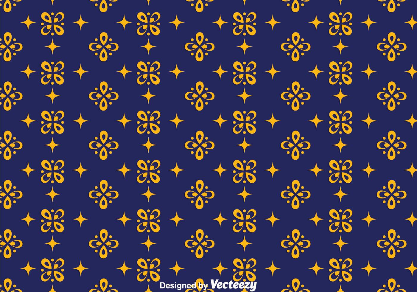 Dark Blue Batik Background Vector - Download Free Vector ...