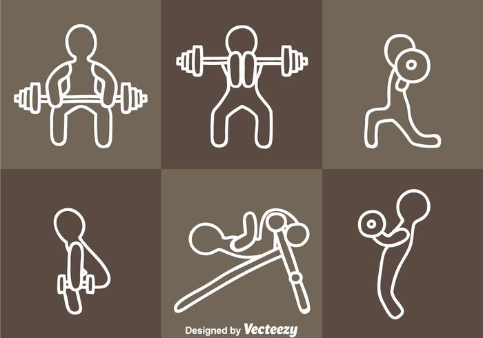Exercising Icon Vectors