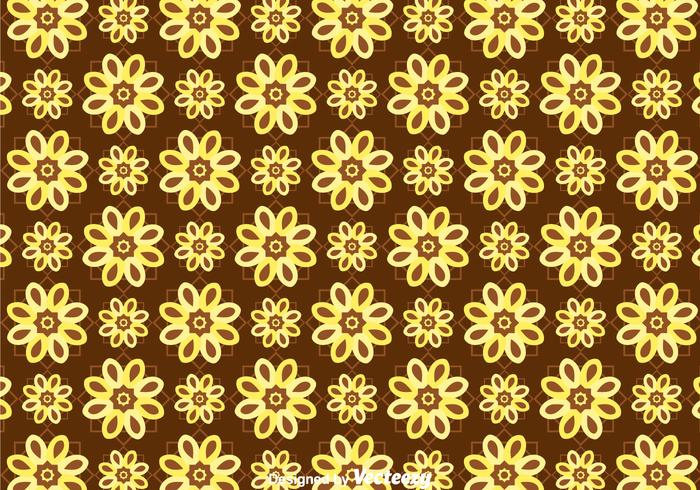 Batik Flower Background Vector