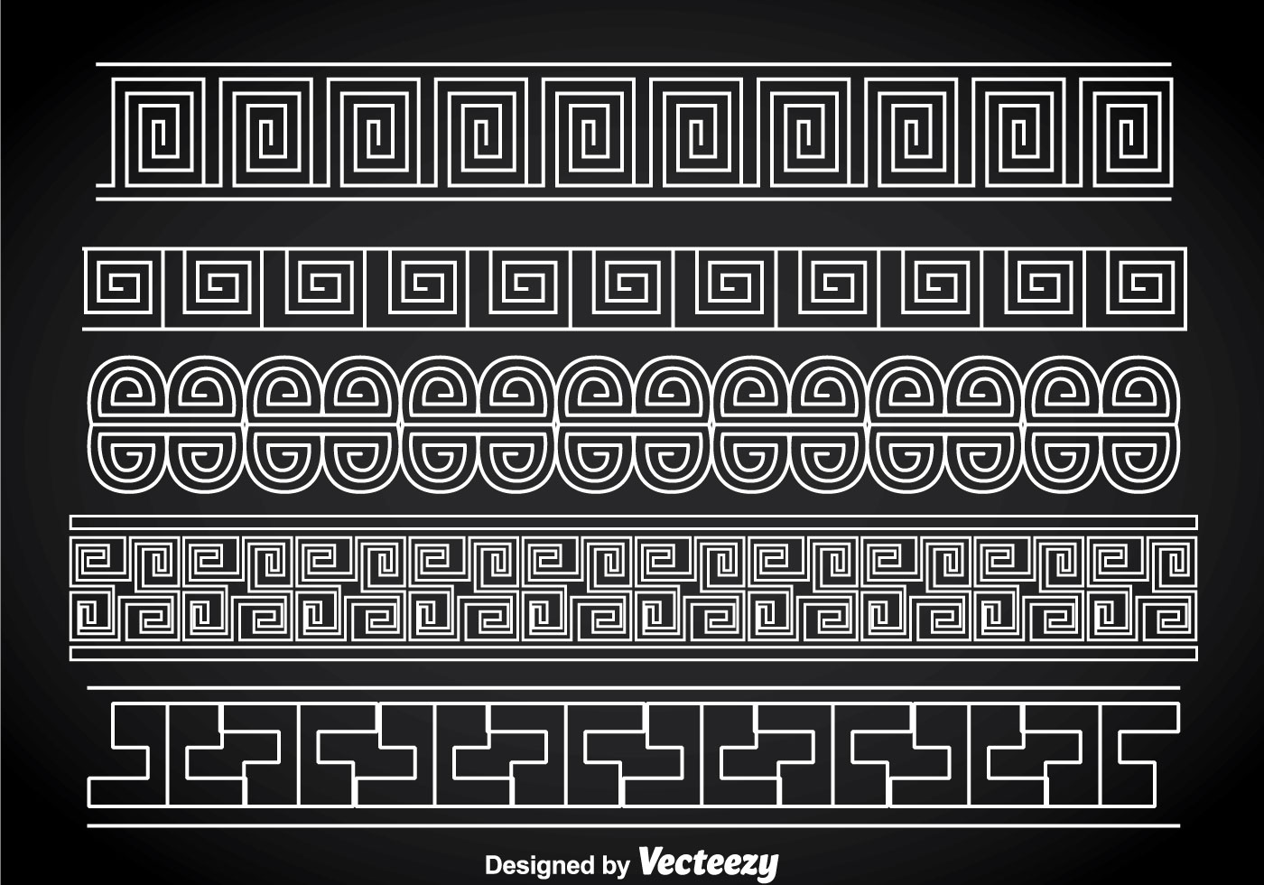 Greek Key White Border Vector Sets - Download Free Vector ...