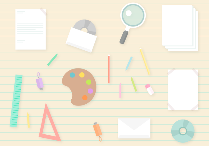 Free School Supplies Vector
