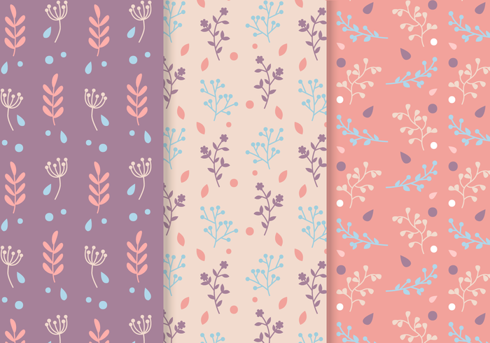 Free Seamless Plants Pattern Vector