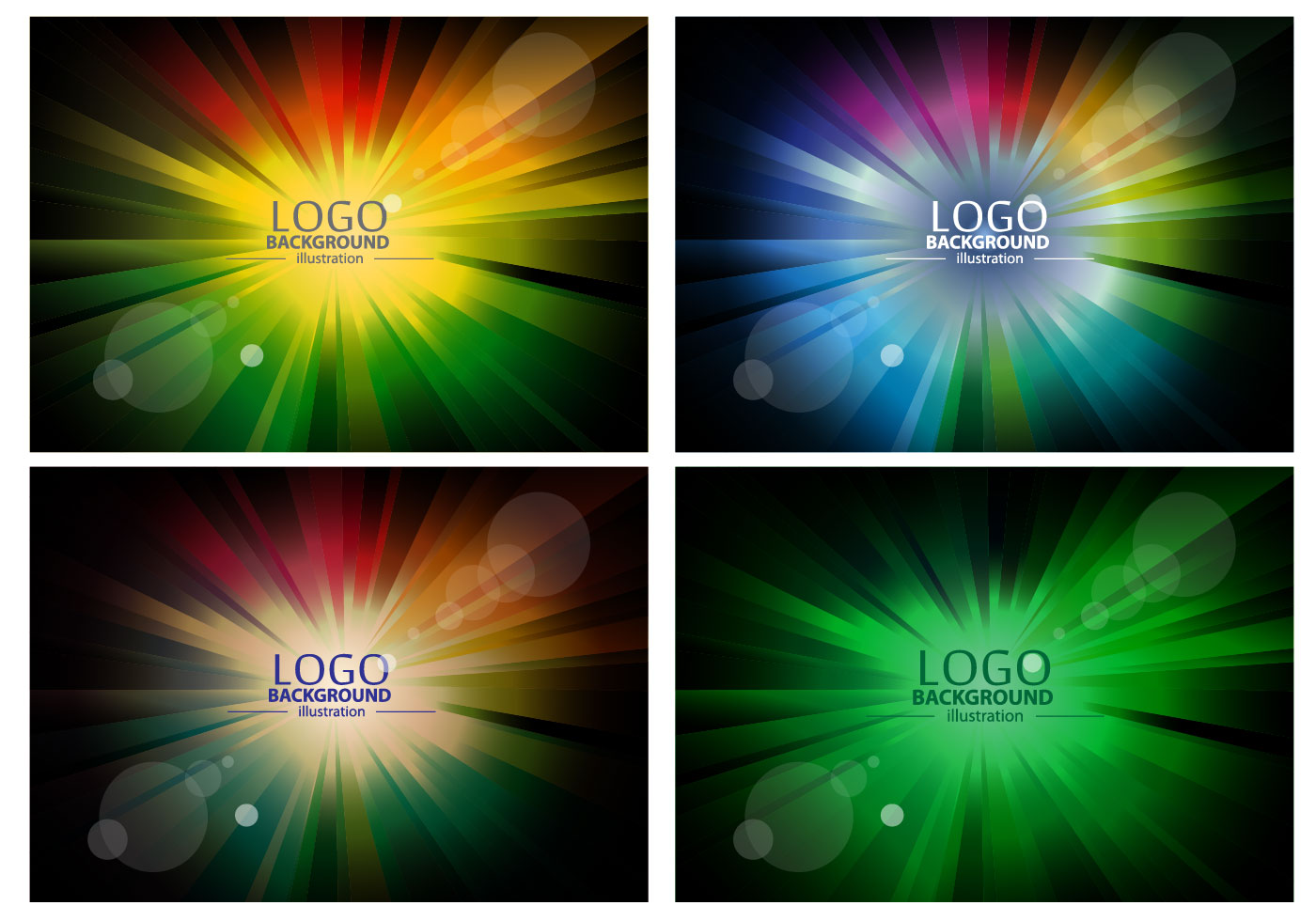 colorful logo background design vectors download free vector art