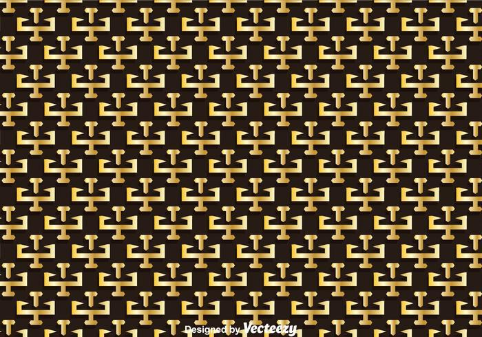 Gold Greek Key Pattern