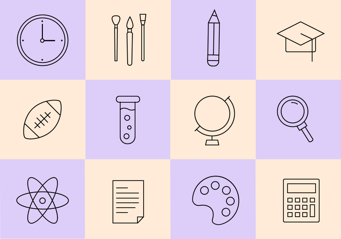 Free School Icons Vector