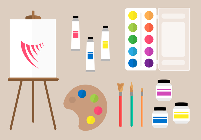 Free Painting Tools Vector , Download Free Vectors, Clipart