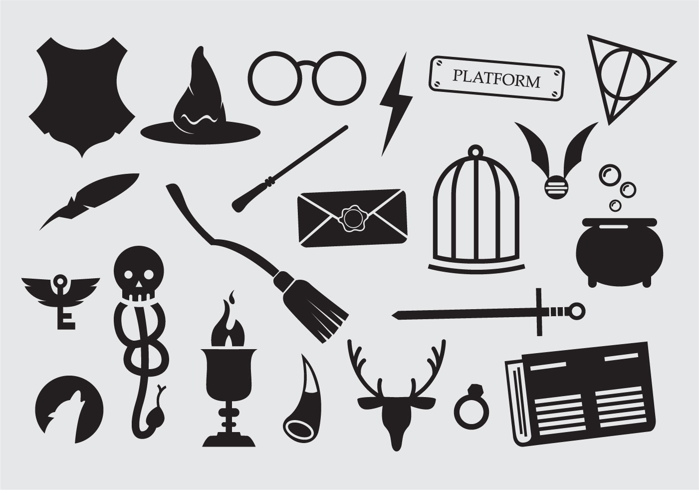Harry Potter Vector Icons Download Free Vector Art Stock Graphics