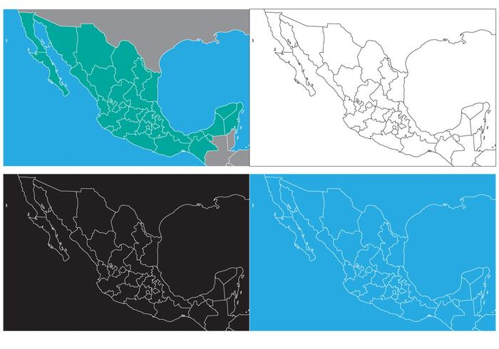 Free State Map of Mexico
