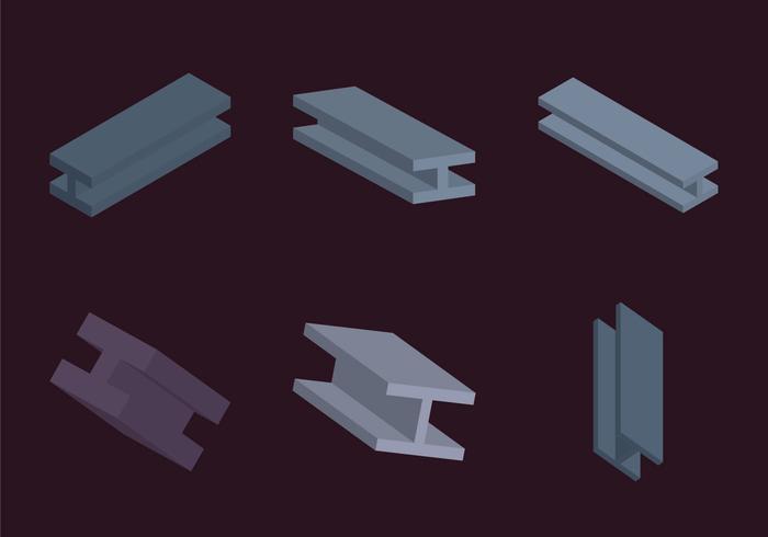 Free Steel Beam Vector Illustration