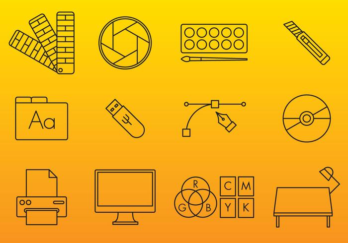 Graphic Arts Vector Icons