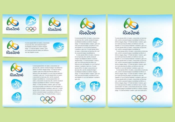 Blue River Olympic Design Vectors