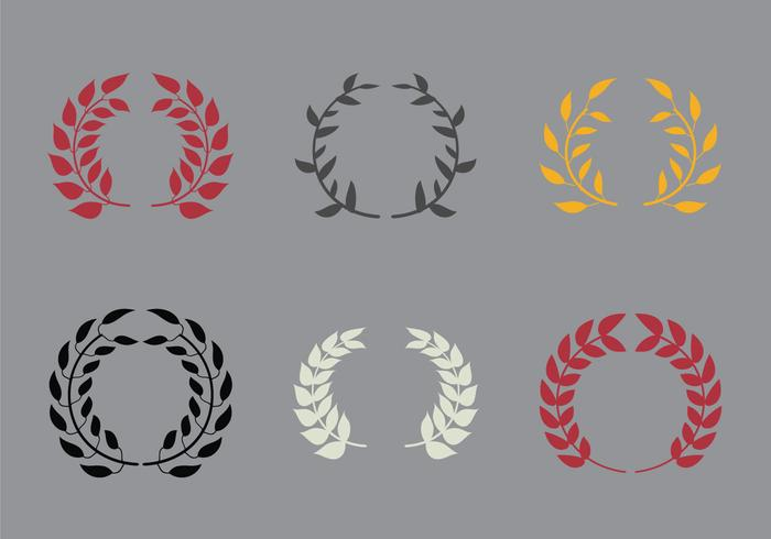 Free Olive Wreath Vector Illustration