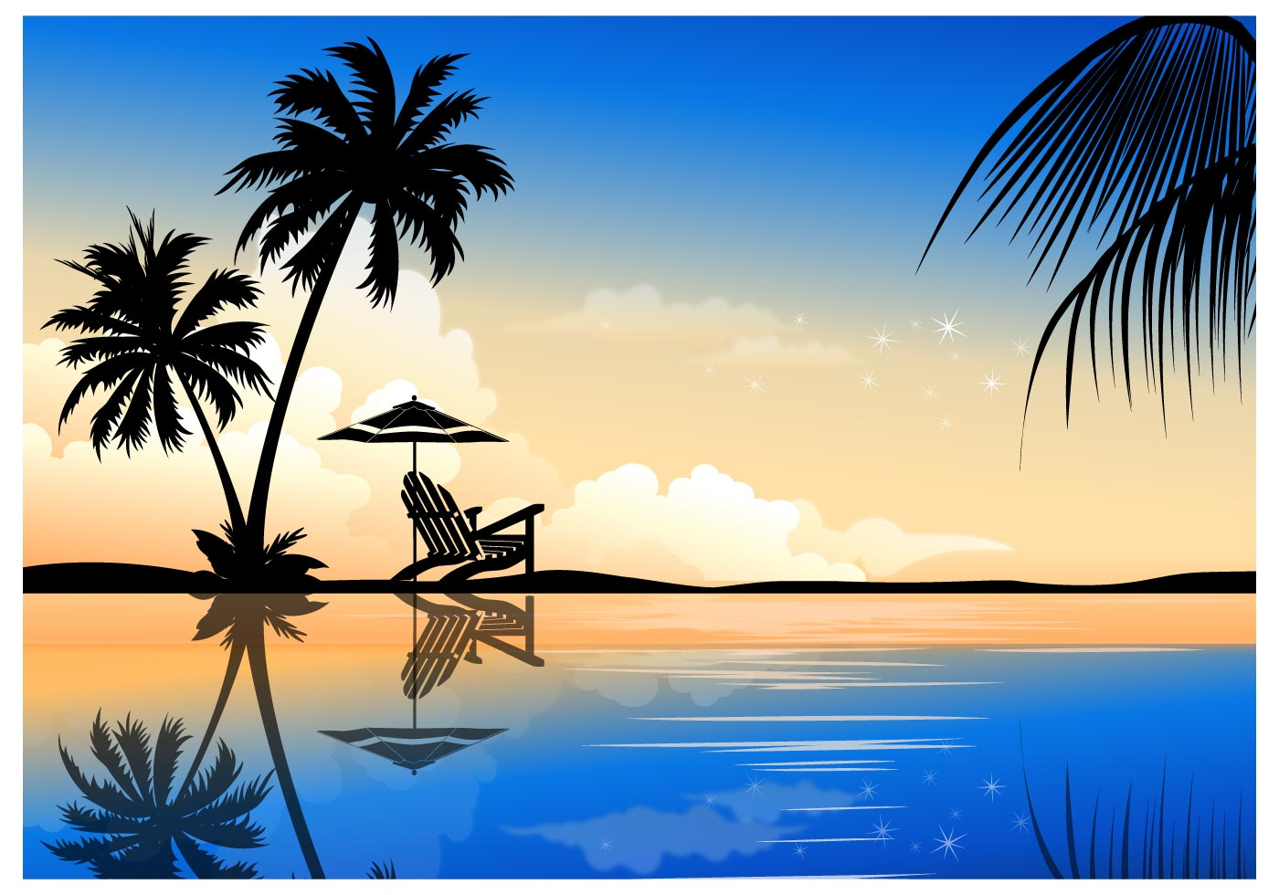 Beautiful Palm Summer Vector Background - Download Free ...