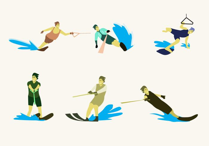 Water Skiing Illustration Vector
