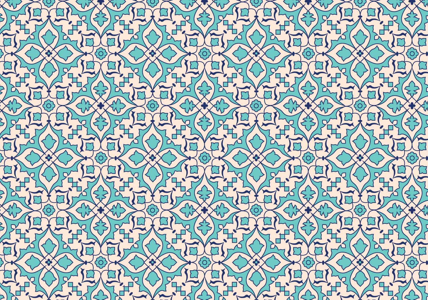 Vector Mosaic Leaf Pattern Background - Download Free