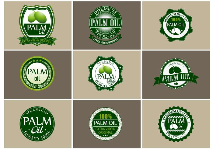 Palm Oil Vector Set