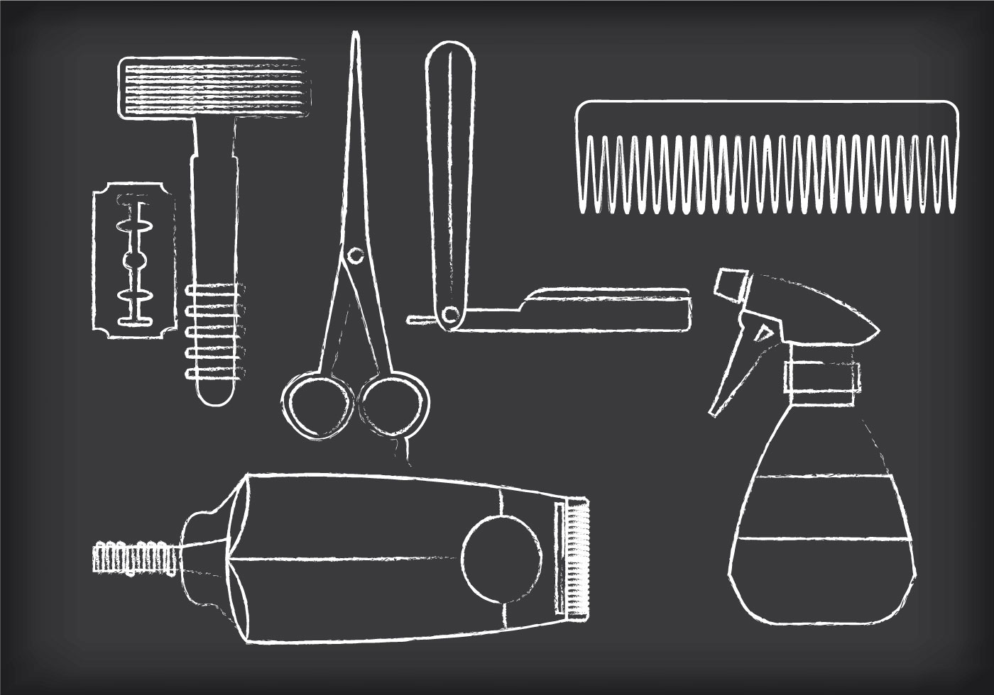 Barber Tools Vectors Download Free Vector Art Stock