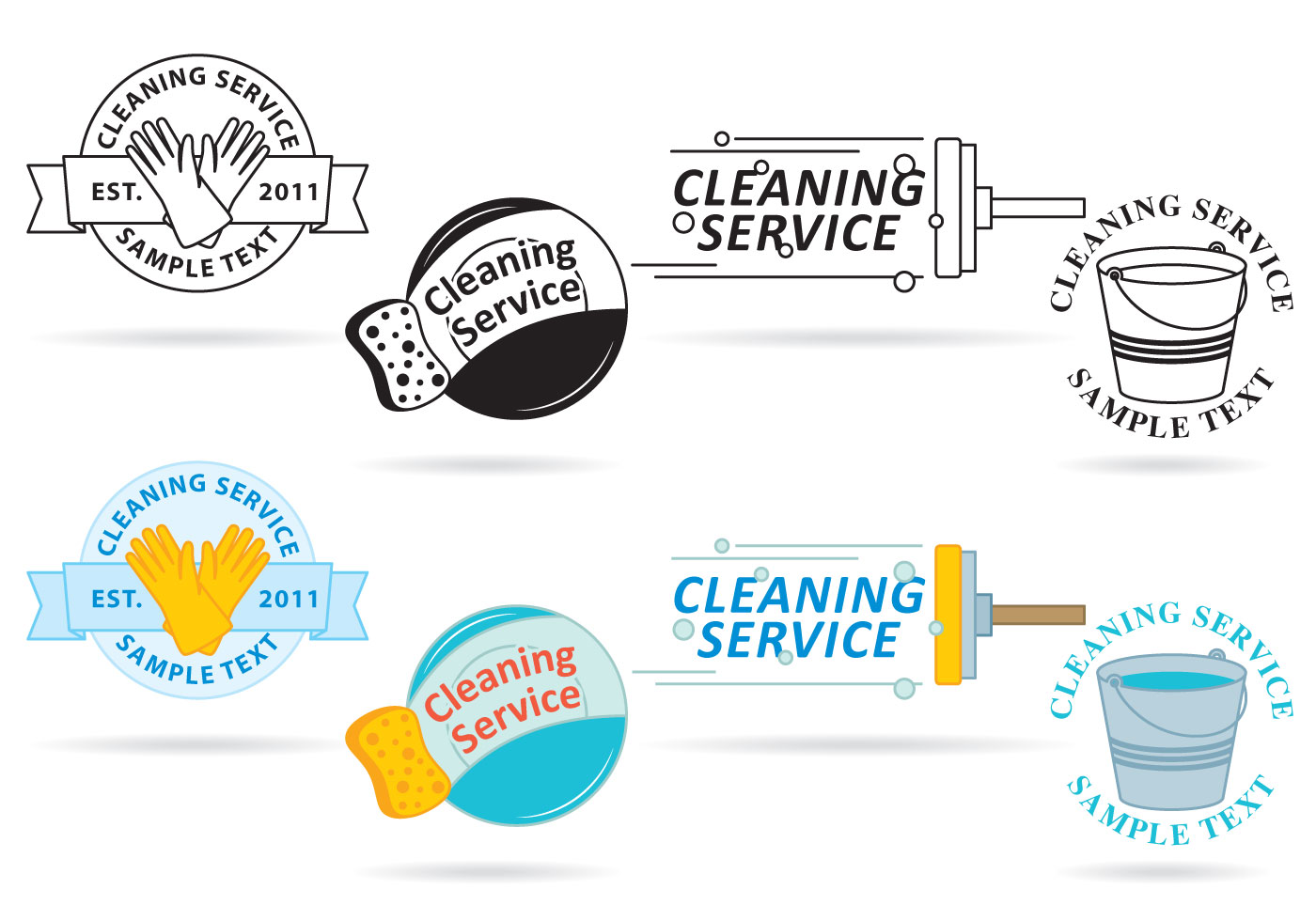 Cleaning Service Logo Vectors Download Free Vector Art Stock Graphics amp Images