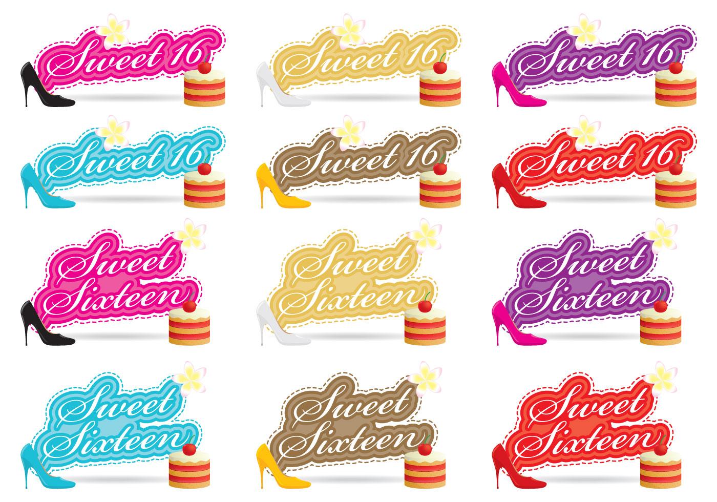 Sweet Sixteen Vectors Download Free Vector Art Stock