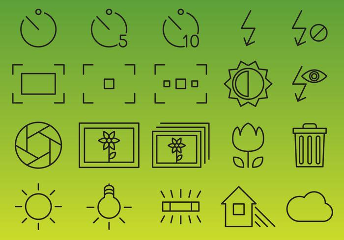 Camera Interface Vector Icons