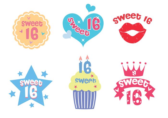 Free Sweet 16 Vector