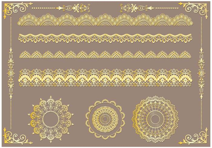 Set of Lace Trim Vectors