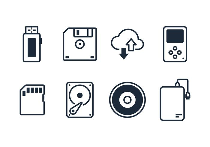 Digital Driver Line Icon Vectors