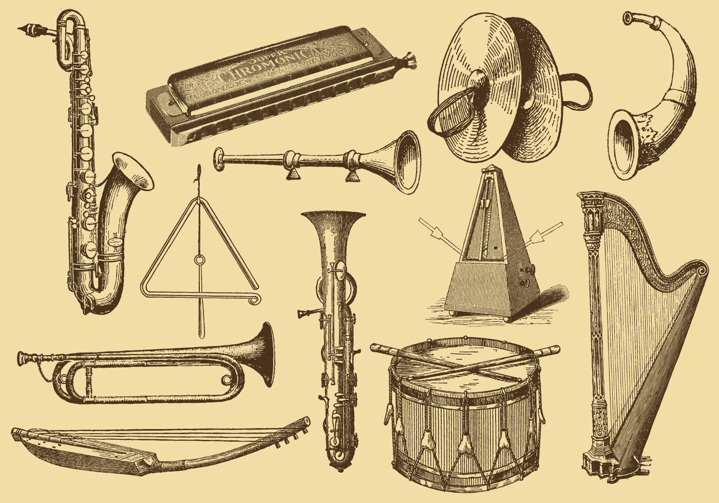 This is an image of Inventive Musical Instruments Drawing