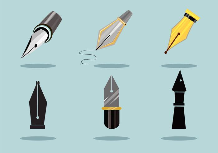 Elegant Pen Nibs Vector