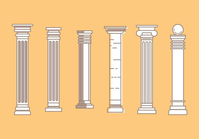 Free Roman Pillar Vector Iconos # 3